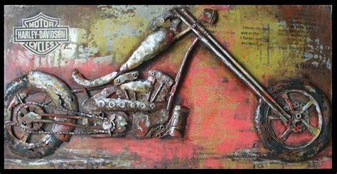 steel wall art painting  metal harley davidson