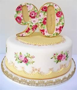 Vintage 90th birthday cake