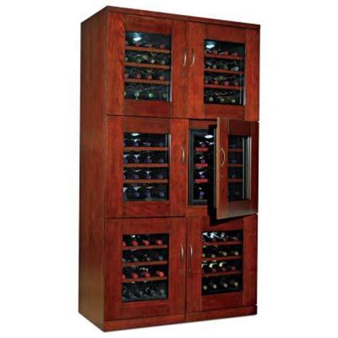 wine enthusiast trilogy dual  bottle wine cellar