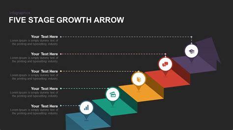 five stage growth arrow powerpoint and keynote template slidebazaar