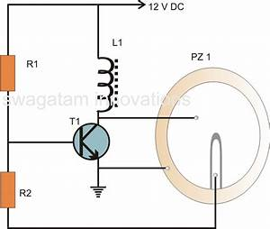 Hobby Electronic Circuits  Simple Piezo Buzzer Circuit