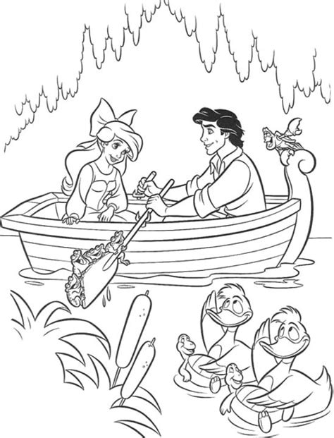 Kleurplaat Ariel Eric by Disney Princess Ariel And Eric Coloring Pages Rsad