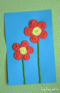 yarn flower craft easy peasy and