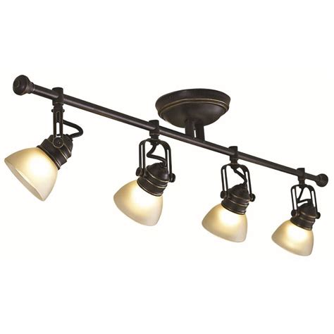 shop allen roth tucana  light bronze fixed track bar