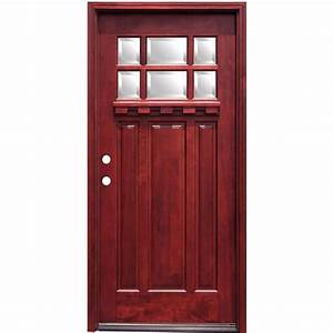 Pacific Entries 36 in. x 80 in. Craftsman 6 Lite Stained ...