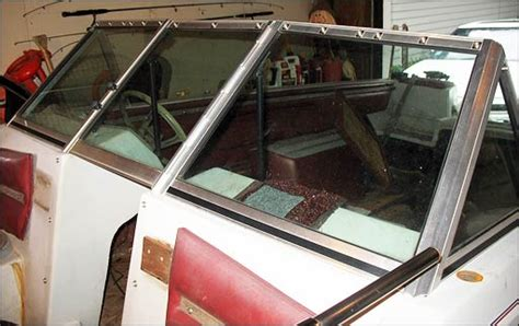 Boat Windshield Frame Paint by Modify A Baretta Windshield To Fit A Glastron Updated