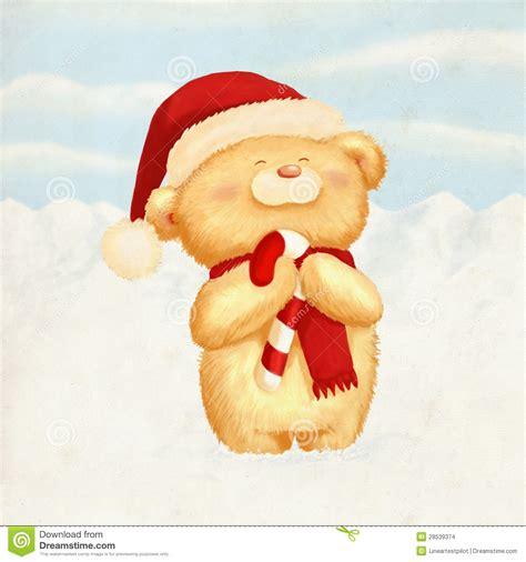 cute bear christmas card stock images image