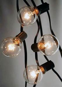 25 outdoor patio string light set g40 clear globe bulbs 28 With outdoor string lights with black cord