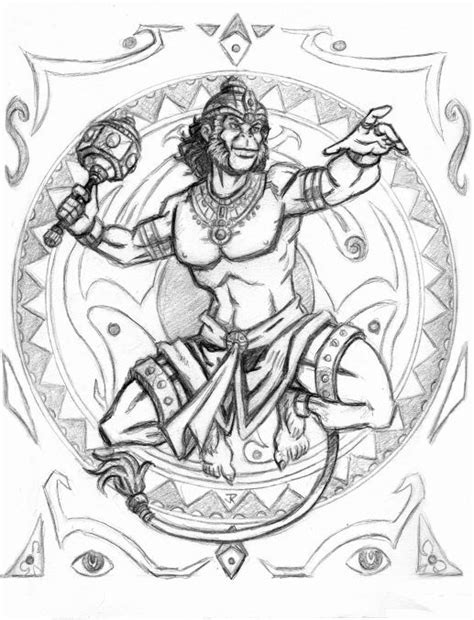 Shoulder tattoo design, all Photoshop. | Sketches, Hanuman