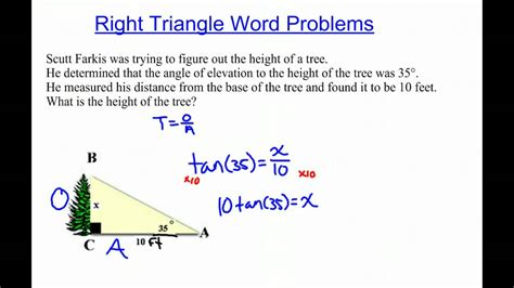 right triangle word problems multiply