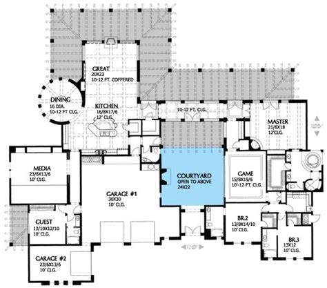 spanish stucco house plans spanish house plans   courtyard courtyard home plans