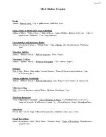 MLA Format Citation Examples