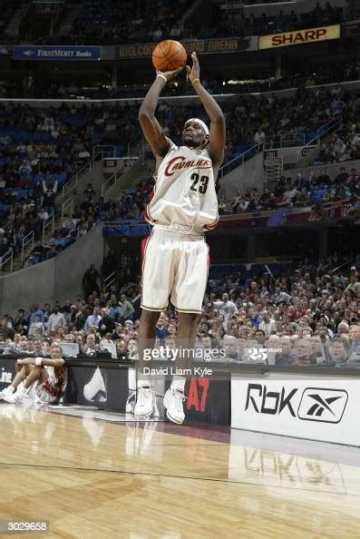 lebron james   cleveland cavaliers takes  open jump