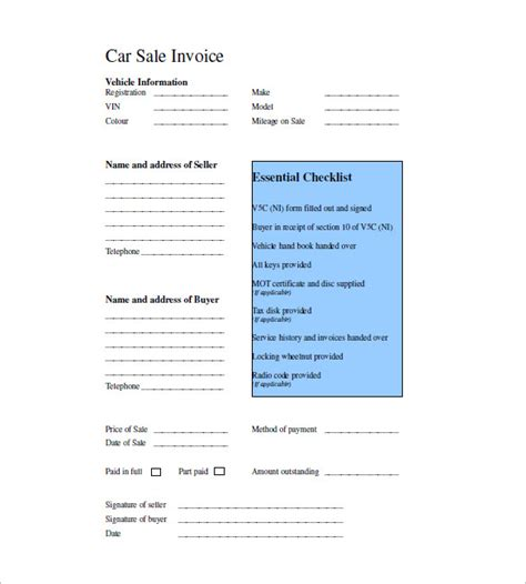 sales invoice templates  word excel
