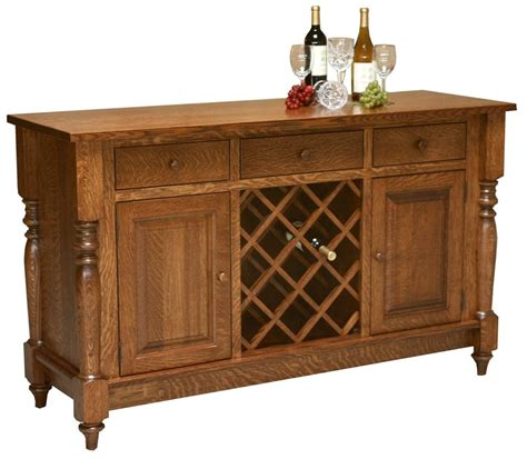 Sideboard Servers by Amish Farmhouse Harvest Buffet Server Sideboard Wine Rack