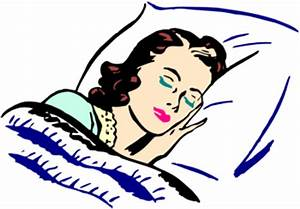 Clip art girl sleeping