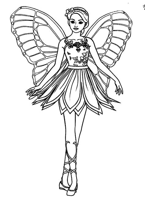 Beautiful Fairy Coloring Pages at GetColorings com Free