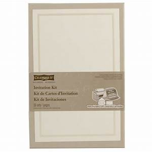 celebrate ittm occasionstm invitation kit ivory border With michaels blank wedding invitations