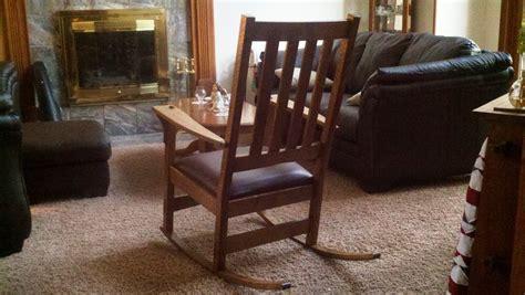 craftsman style rocking chair by alongiron lumberjocks