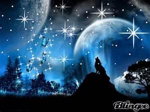 Good Night Moon And Stars Glitter Picdesicom | Auto Design ...