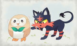 Rowlett Litten and Pokemon