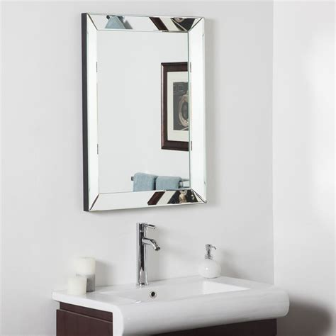 Fancy Mirrors For Bathrooms by Decor 23 6 In Rectangular Bathroom Mirror At