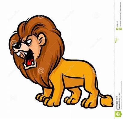 Roar Clipart Lion Roaring Lions Animated Cartoon