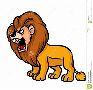 Animated Lion Roaring Clipart