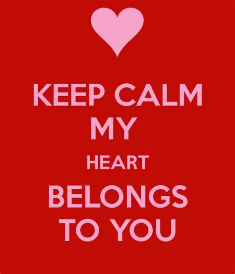 calm  heart belongs   poster asdsf