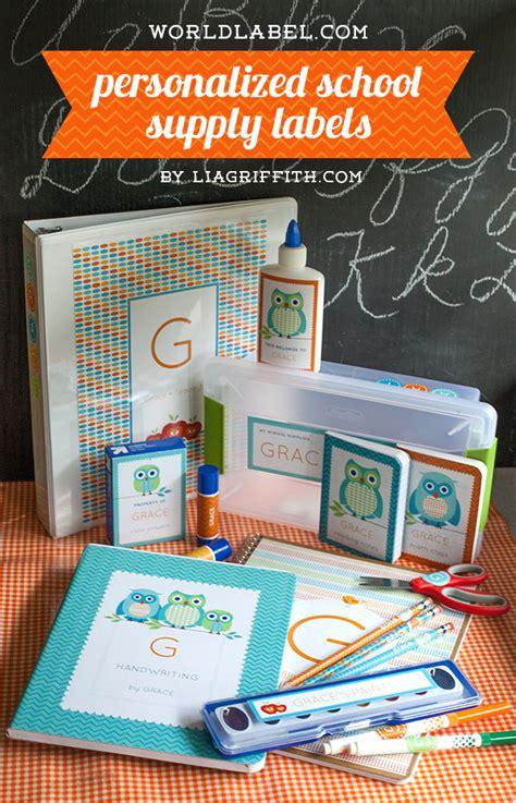 personalized   school organizing labels worldlabel blog
