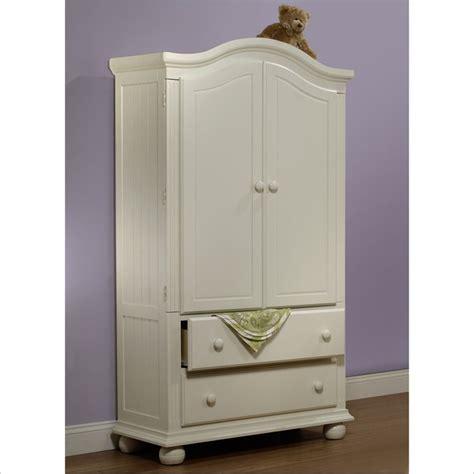 sorelle vista armoire in french white v2640 fw