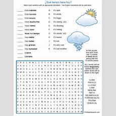 Que Tiempo Puzzle Worksheet  Printable Spanish