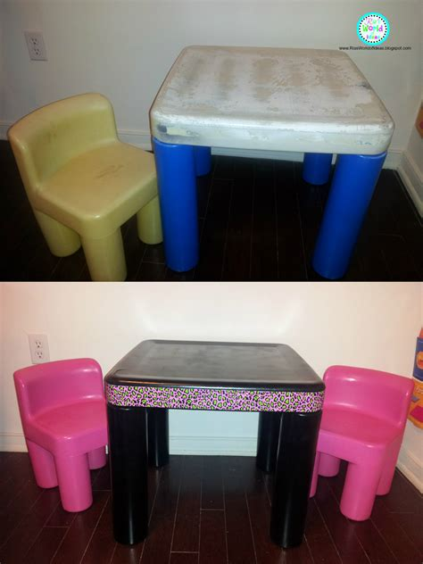 Tikes Desk With L And Chair by Ria S World Of Ideas Tikes Table And Chairs Redo