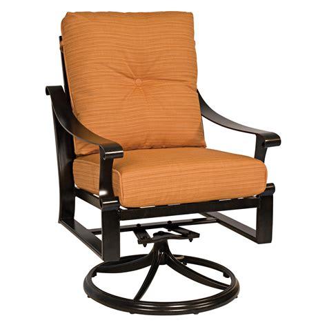 Primera sling aluminum swivel rocker dining arm chair. Woodard Bungalow Cushion Swivel Rocker Dining Chair ...
