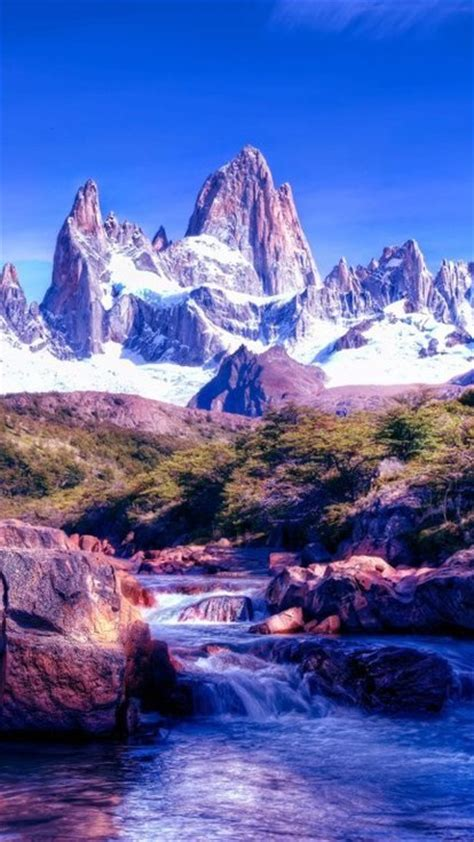 argentina patagonia ice mountains wallpaper allwallpaper