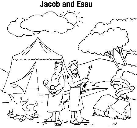 Jacob And Esau Coloring Page - Eskayalitim