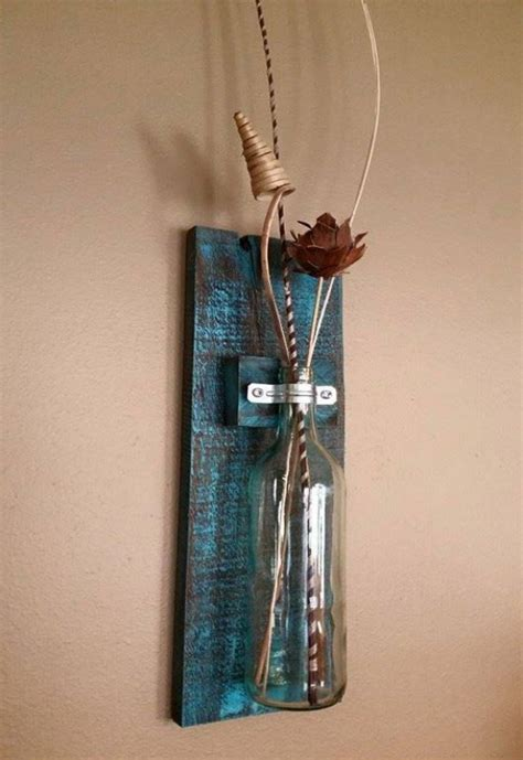 Hanging Wall Vase - pallets wood wall hanging vase pallet ideas