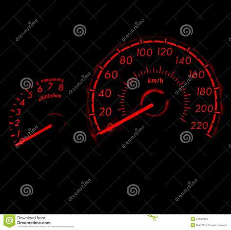 Racing Style Car Speed Meter 1 Stock Image