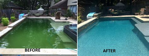 pool before and after home pool time pools