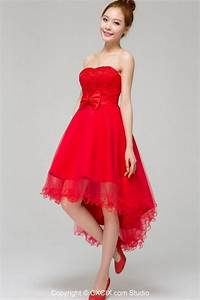 red short wedding dresses With short red wedding dresses