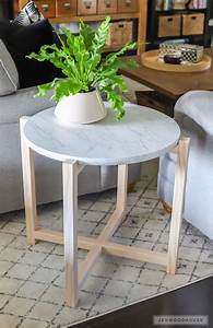 How, To, Build, A, Round, Faux, Marble, Side, Table