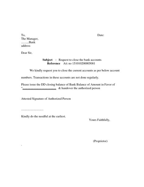 closing cv cover letter template bank account closing letter format sle cover templates