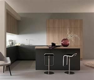 Peinture cuisine 40 idees de choix de couleurs modernes for Deco peinture cuisine design