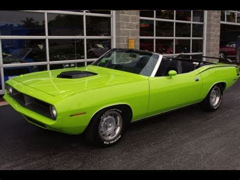 1970 Plymouth Cuda 572 Hemi Convertible Muscle Car Youtube