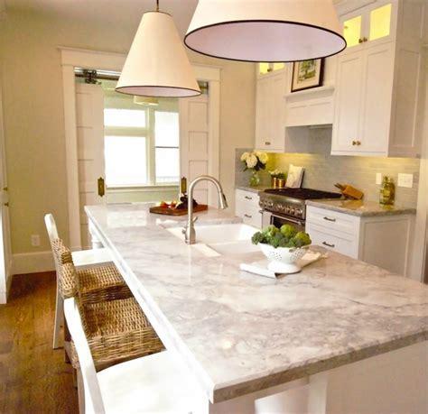 Super White Quartzite   Transitional   kitchen   Benjamin
