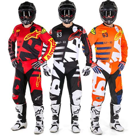 alpinestars motocross jersey alpinestars new mx 2018 racer braap black white adults