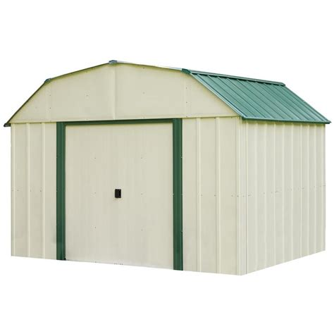 Arrow Galvanized Steel Storage Shed 10x8 by Shop Arrow Vinyl Coated Steel Storage Shed Common 10 Ft