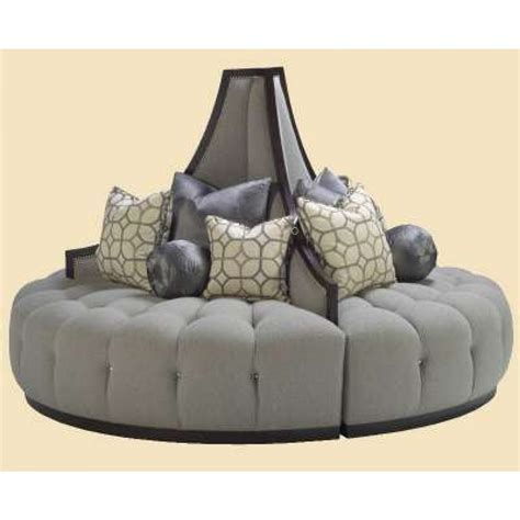 round loveseat with ottoman marge carson mirage round sofa