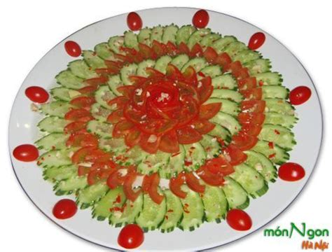 cucumber salad decoration cucumber and tomato salad food decoration