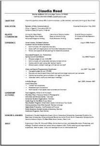 communication resume objective exles career center communications resume sle